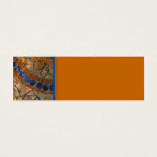 Cartão ambarino do mosaico