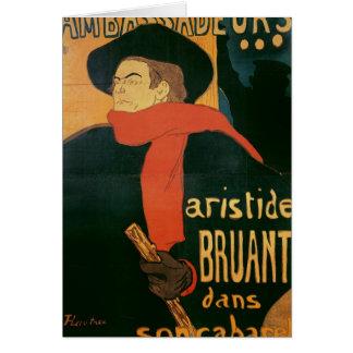Cartão Ambassadeurs: Aristide Bruant, 1892