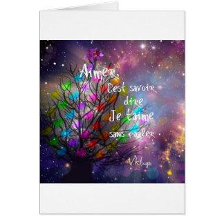 Cartão Ame a mensagem na abundância da árvore dos