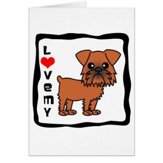 Cartão Ame meu Bruxelas Griffon