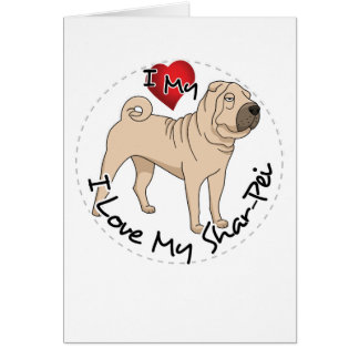 Cartão Ame meu Shar Pei