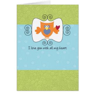 Cartão Ame-o com todo o meu coração