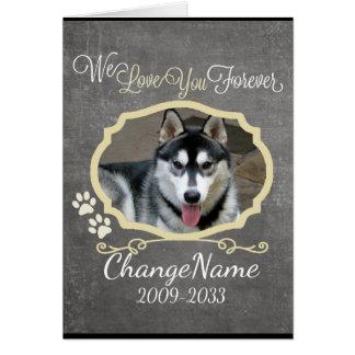 Cartão Ame-o perseguem para sempre a lembrança memorável