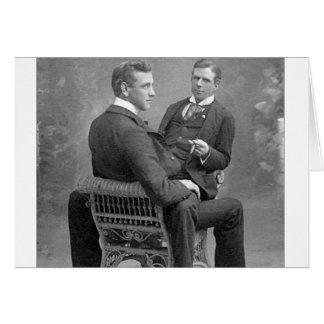 Cartão Ame sempre nossa foto alegre dos amantes do