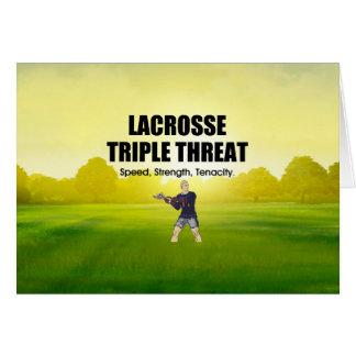 Cartão Ameaça SUPERIOR triplicar-se do Lacrosse