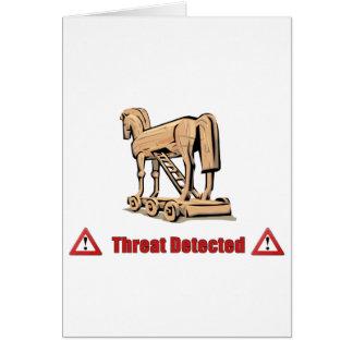 Cartão Ameaça Trojan detectada