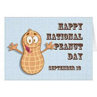 Cartão Amendoim dia o 13 de setembro nacional feliz