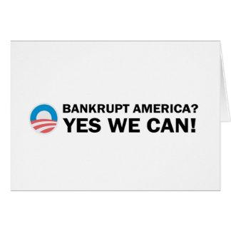 Cartão América falida? Sim nós podemos!