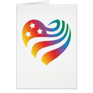 Cartão AmericanHeart - arco-íris