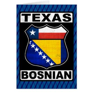 Cartão americano bosniano de Texas