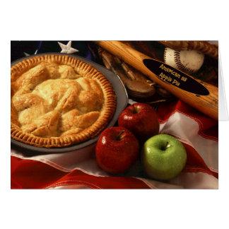 Cartão Americano como a torta de Apple