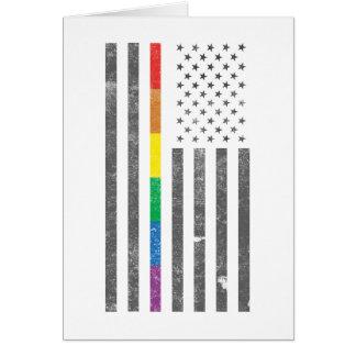 Cartão americano da bandeira do orgulho
