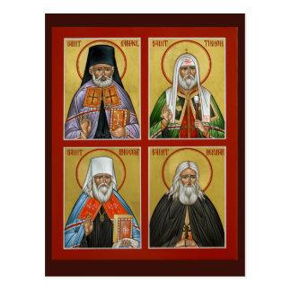 Cartão americano da oração dos santos