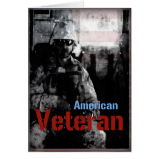 Cartão americano das forças armadas do veterano