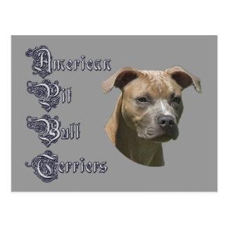 Cartão americano de Terrier (APBT) de pitbull