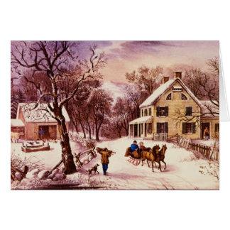 Cartão americano do inverno da herdade