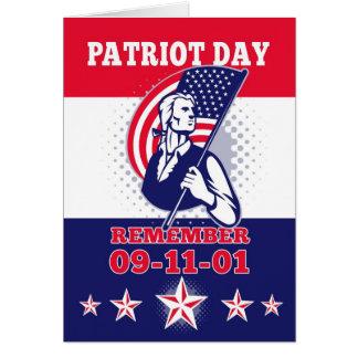 Cartão americano do poster 911 do dia do patriota