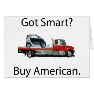 Cartão Americano esperto do comprar do carro