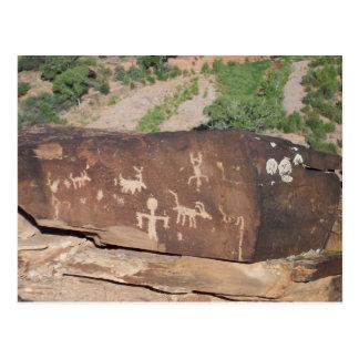 Cartão americano histórico #2 dos Petroglyphs