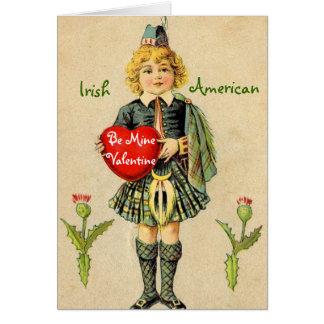 Cartão americano irlandês do dia dos namorados do