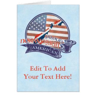 Cartão americano norueguês orgulhoso