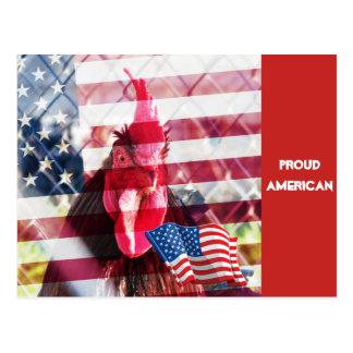 Cartão americano orgulhoso do galo