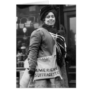 Cartão Americano Suffragette, 1910