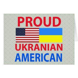 Cartão Americano ucraniano orgulhoso
