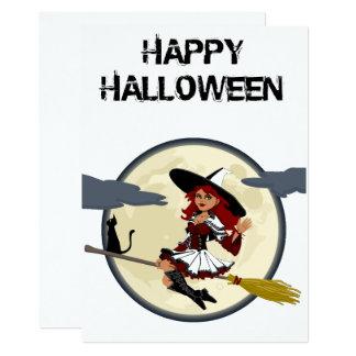 Cartão amigável feliz da bruxa do Dia das Bruxas