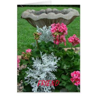 Cartão Amigo, Birthbath & floral