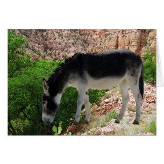 Cartão Amigo do espírito animal do asno - vazio