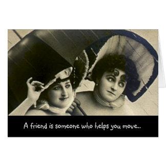 Cartão Amigo dos segredos LOL do humor do divertimento da