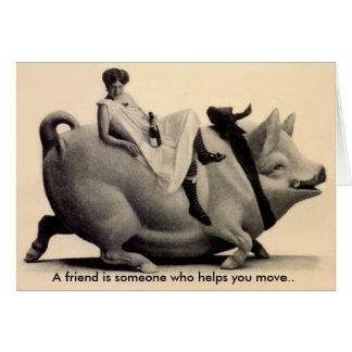 Cartão Amigo engraçado dos segredos LOL do humor da