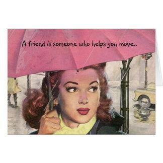 Cartão Amigo retro dos segredos LOL do humor do