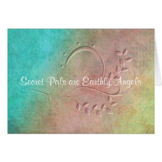 Cartão Amigo terrestre do segredo do anjo
