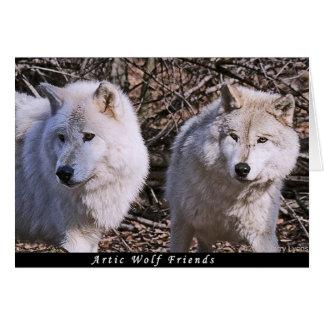 Cartão Amigos árcticos do lobo