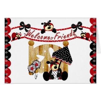 Cartão Amigos bem-vindos