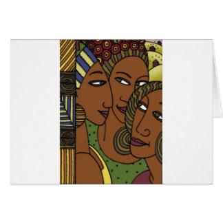 Cartão Amigos da irmã das mulheres do afro-americano