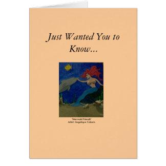 Cartão Amigos da sereia