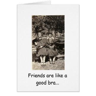 Cartão Amigos de suporte