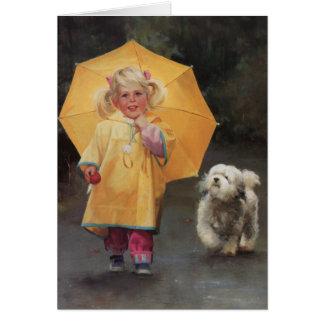 Cartão Amigos do dia chuvoso