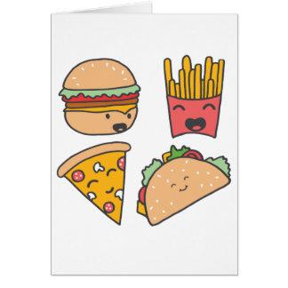 Cartão amigos do fast food