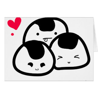 Cartão amigos do onigiri