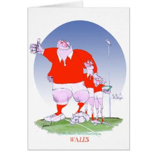 Cartão amigos do rugby de galês, fernandes tony