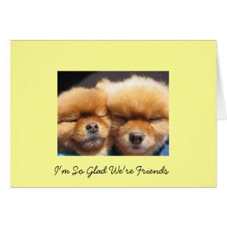 Cartão Amigos e amizade