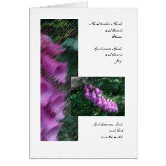 Cartão Amigos: Mente, espírito, e alma