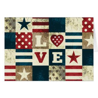 Cartão Amor América patriótica