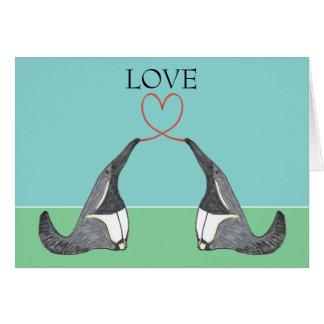 Cartão Amor - Anteaters adoráveis