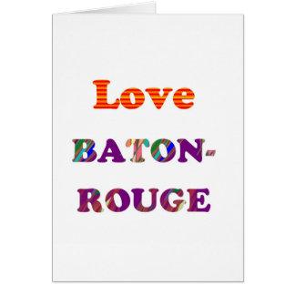 Cartão Amor BATON ROUGE Louisiana
