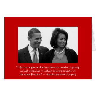 Cartão AMOR CARD/OBAMA, citações de Antoine de